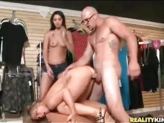 Slut in store fucked doggystyle by big cock tubes