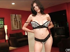 Brunette heather vahn has sexy fake tits tubes