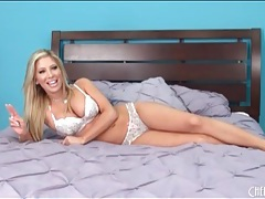 Tasha reign relaxes in her sexy bra and panties tubes