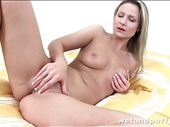Samantha jolie fingers and fucks a toy tubes