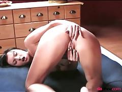 Sexy sandra sanchez fingers her asshole tubes