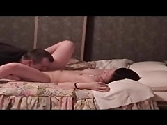 White guy eats out a cute asian girl tubes