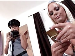 Eve angel sucks big titties of hot blonde tubes
