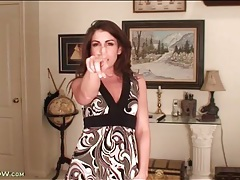 Milf tease annabelle genovisi in a cute dress tubes