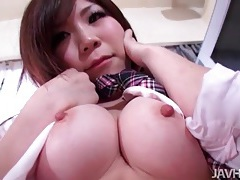 Fondling and fingering schoolgirl that blows him tubes