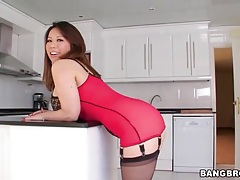 Tight lingerie on curvy asian tiger benson tubes