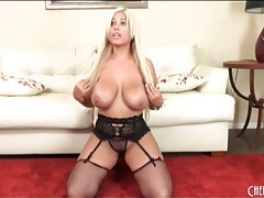 Pornstar bridgette b in fishnets and sexy panties tubes