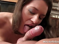 Nut sucking girl pleasures his cock too tubes