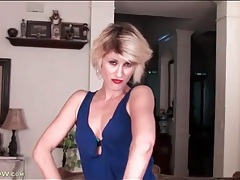 Jayden monroe looks hot in tight blue dress tubes