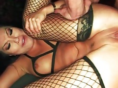Asian pornstar anal sex in fishnets tubes