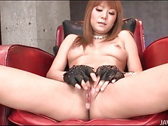 Japanese beauty strips and oils her body tubes