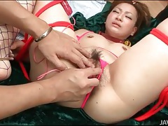 Lots of cum injected into pussy of yukina momose tubes