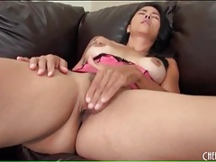 Pink satin panties on the ass of dana vespoli tubes