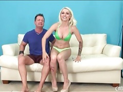 Stevie shae unbuttons her bra to show her tits tubes