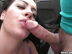 Mandy haze blowjob in a parking lot tubes