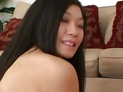Asian with a pretty pussy eaten out in porn tubes