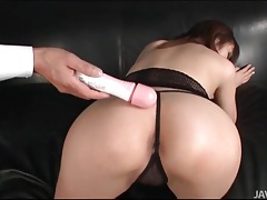 Babe in gstring fucked by a dildo tubes