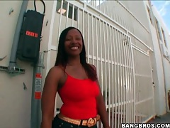 Black girl cherokee dass shakes it in public tubes