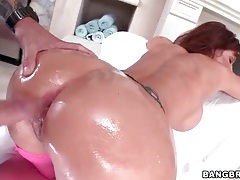 Tight asshole of a hot slut fucked doggystyle tubes
