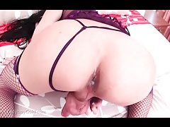 He cums all over her tight ladyboy asshole tubes