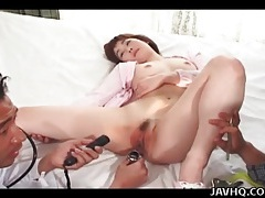 Speculum takes us inside her japanese pussy tubes