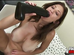 Amazing big fake tits on toy fucking girl tubes
