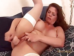 Solo june summers dildo fucks her pussy tubes