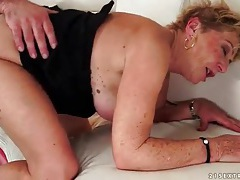 Cocksucking granny bent over and fucked tubes