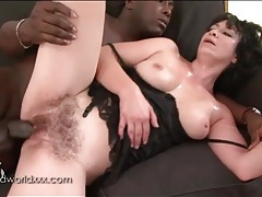 Hairy milf pussy fucked by big black cock tubes