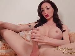 Mariana cordoba playing with my yellow dildo tubes