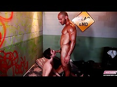 Twink gives blowjob to a muscular guy tubes