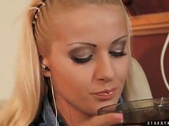 Deepthroat face fuck of a sweet blonde slut tubes