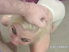 Cute coed charlize danay is swallowing some cock tubes