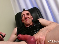 Mature straight marc jerking off his pecker tubes