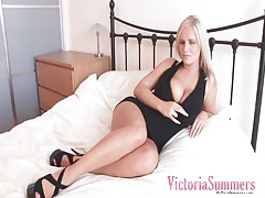 Lovely little black dress on big tits blonde tubes