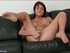 Shaved pussy and pierced clit in finger fucking video tubes