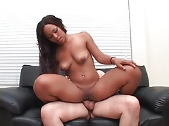 Hands on big asian ass while she rides his dick tubes