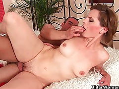 Sultry soccer mom gets fucked in her mature pussy tubes