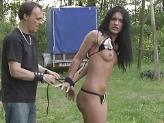 Ruthles treatment pulling hair and spanking in bdsm tubes