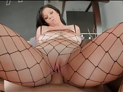 Curvy girl in fishnet body stocking fucked hardcore tubes