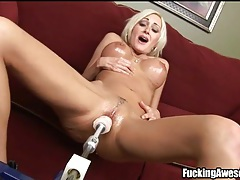 Blonde torrey pines fucks dildo machine tubes
