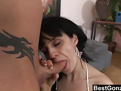 Dark haired misha gets sodomized on the couch tubes