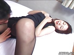 Fooling around with japanese girl in pantyhose tubes
