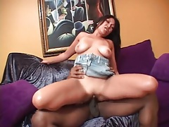 Asian on a black cock has nice natural tits tubes