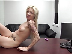 Heavily tattooed blonde amateur fucked tubes