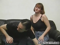 Amateur couple doing it for a casting tubes