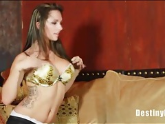 Quick blowjob from destiny dixon makes him cum tubes