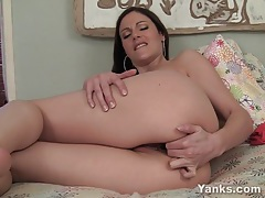 Superb samantha fucking a giant toy tubes