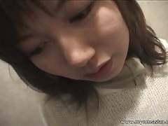 Public bathroom suck and fuck with asian sweater girl tubes