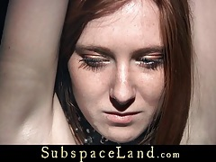Redhead slave is punished and fucked in a sensual bdsm game tubes